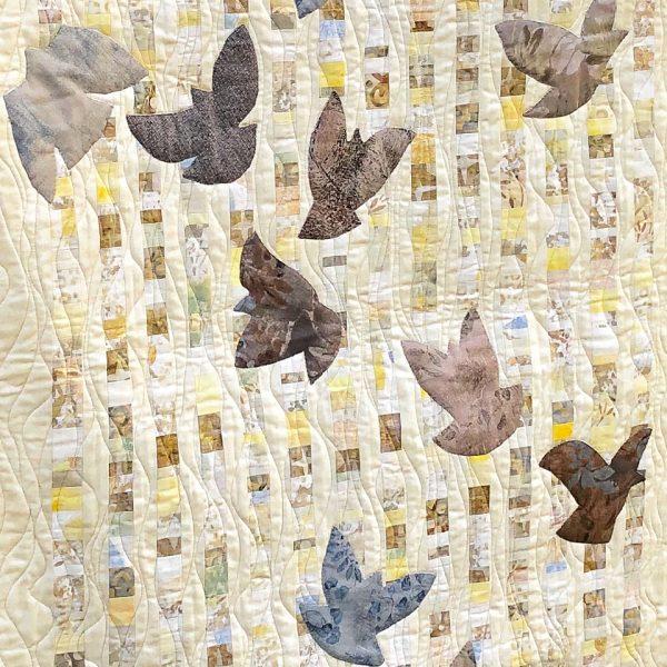Hato (Doves) quilt detail