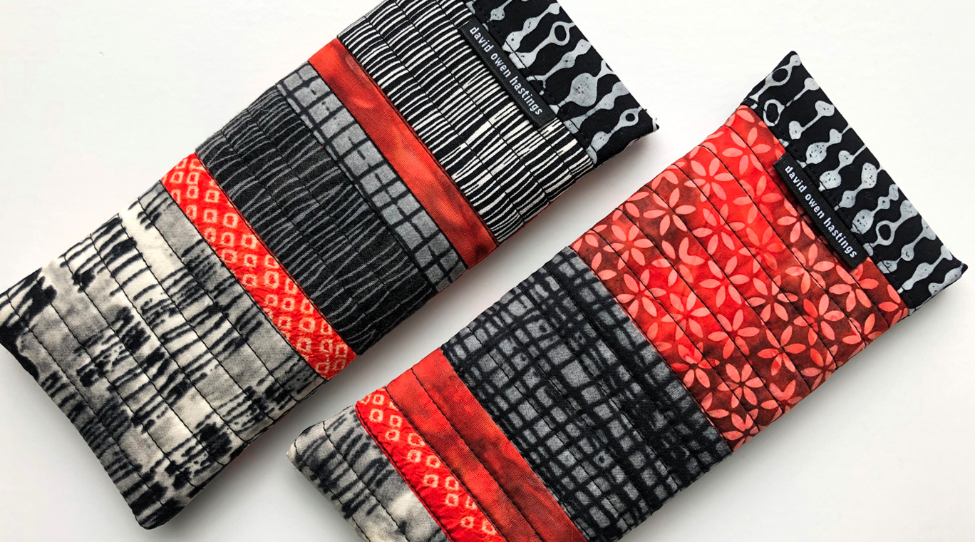 Snappy Eyeglasses Cases – black and white with orange