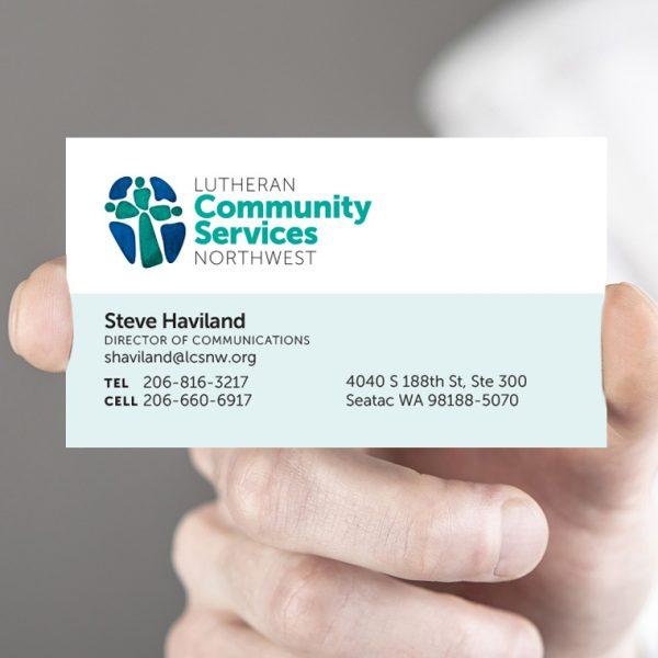 Business card for Lutheran Community Services Northwest