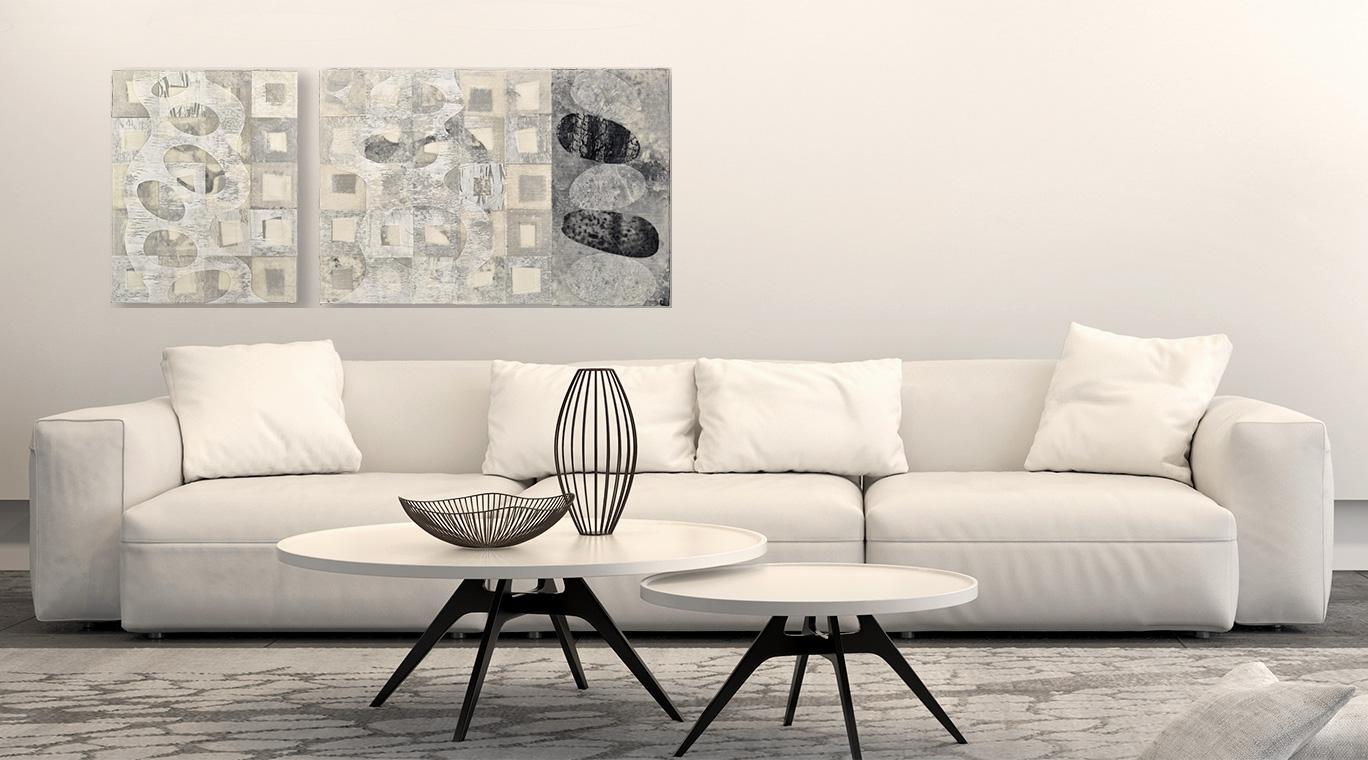 Korogaru (Languish) original art by David Owen Hastings in a black and white room