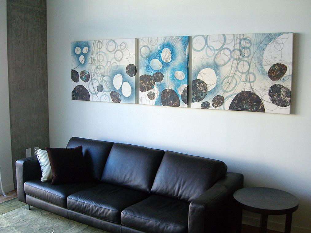 Mizu (Water) triptych –original artwork by David Owen Hastings