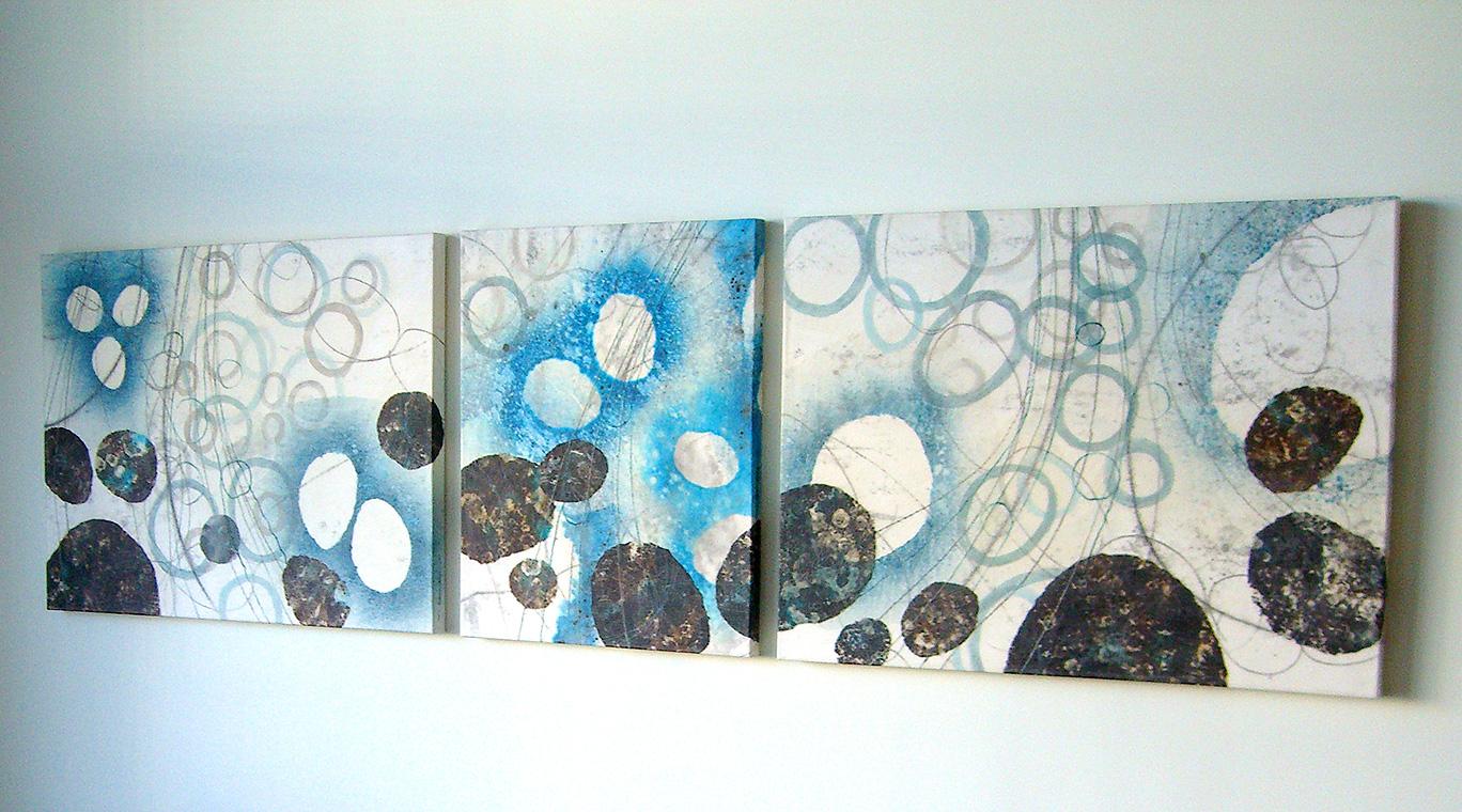 Mizu (Water) triptych detail –original artwork by David Owen Hastings