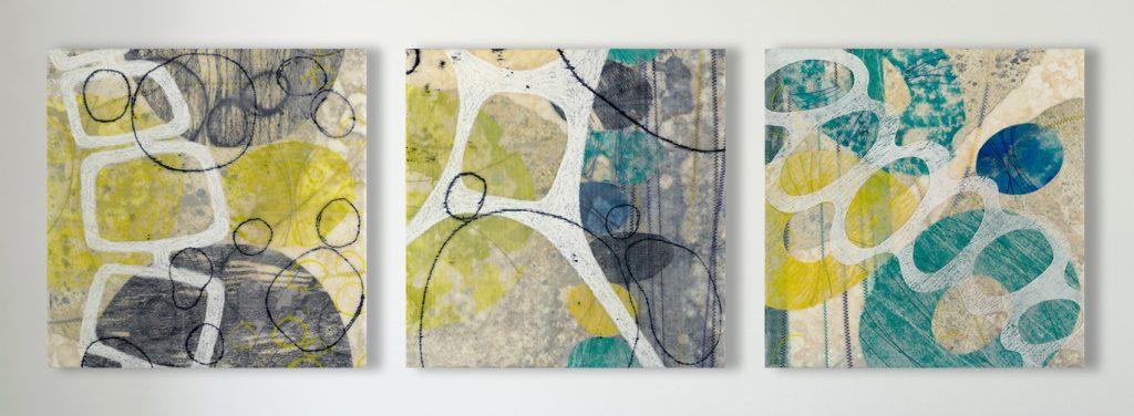 Renketsu (Languish) triptych – original artwork by David Owen Hastings