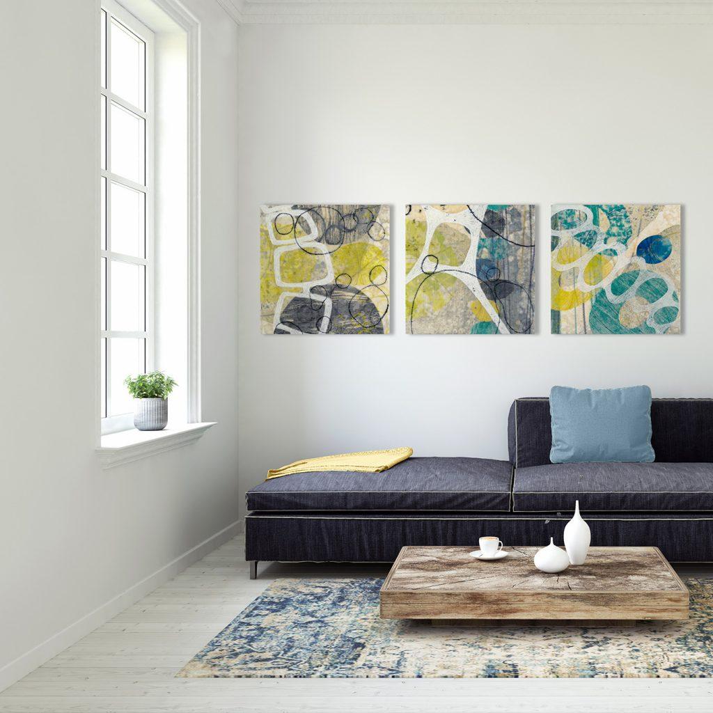 Renketsu (Languish) – original artwork by David Owen Hastings in a modern room