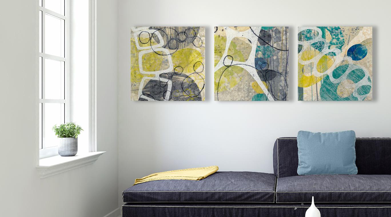 Renketsu (Languish) triptych detail – original artwork by David Owen Hastings