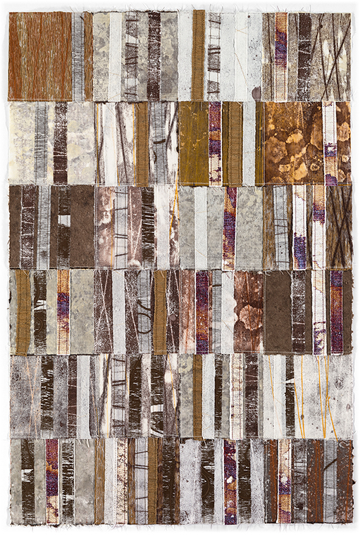 """Artwork by David Owen Hastings –""""Furui (Ancient)"""" in browns and white"""
