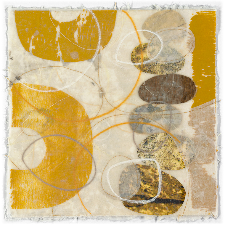 "Artwork by David Owen Hastings – ""Tamaru (Accumulate)"" in gold, brown and beige"
