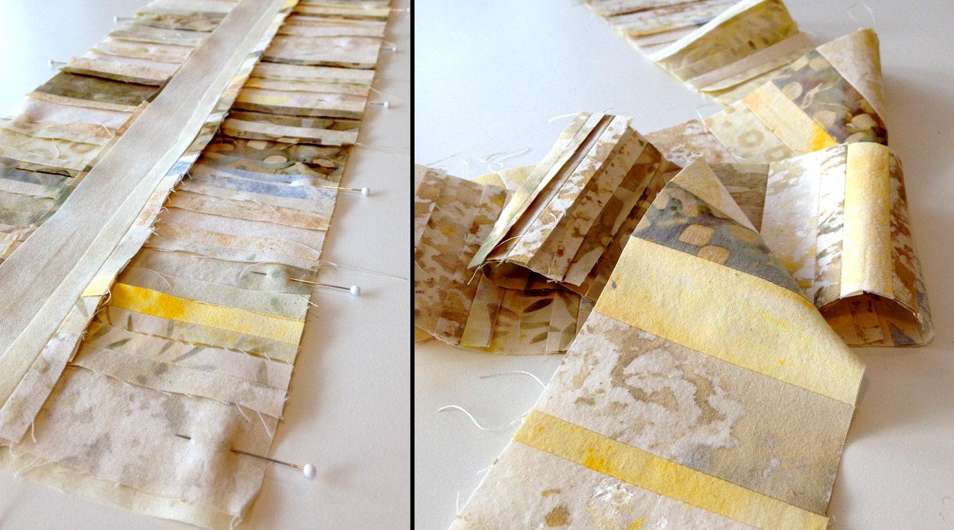 Strip piecing details