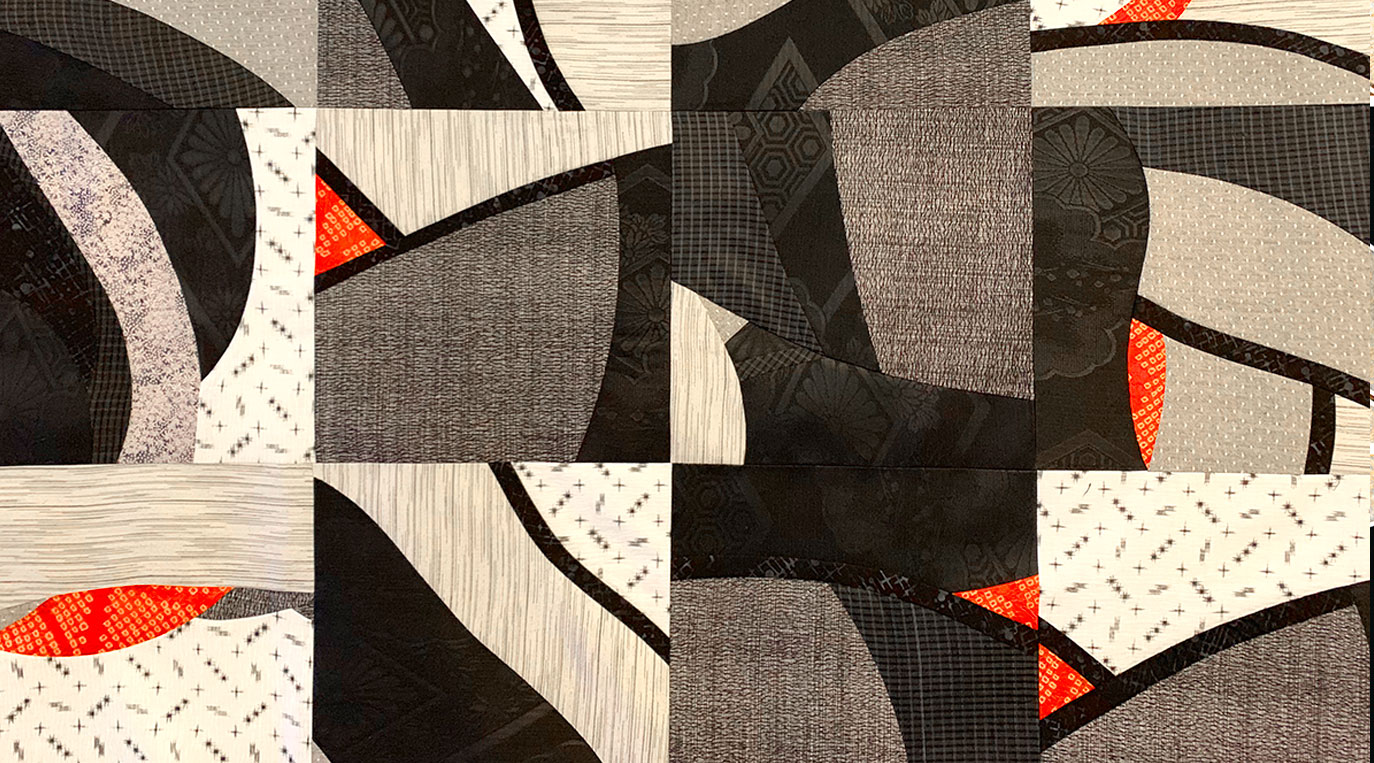 Inspired by Art Workshop – pieced quilt blocks for Naniwa Okita quilt