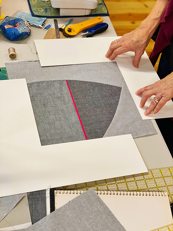 Modern Abstract Quilts Workshop – squaring up design